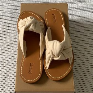 NIB Soludos Knotted Slide Sandal